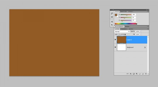 Photoshop Quick Tip - Wood Texture Step 1