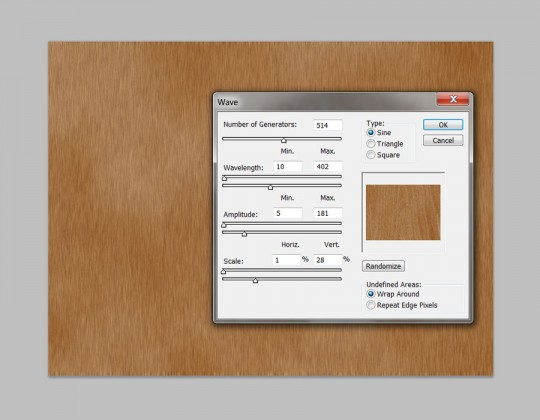 Photoshop Quick Tip - Wood Texture Step 5