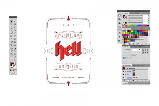 Typography Poster Step 2