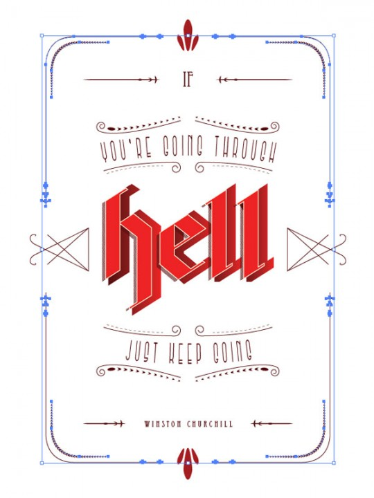 Typography Poster Step 32