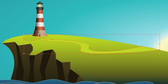 Coastal Illustration Step 15