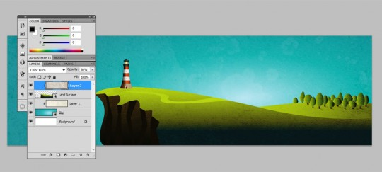 Coastal Illustration Step 26