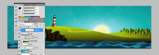 Coastal Illustration Step 28