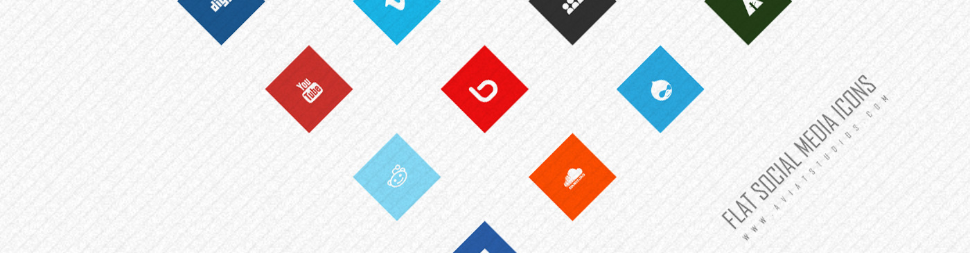 Featured Image Free Flat Social Media Icons
