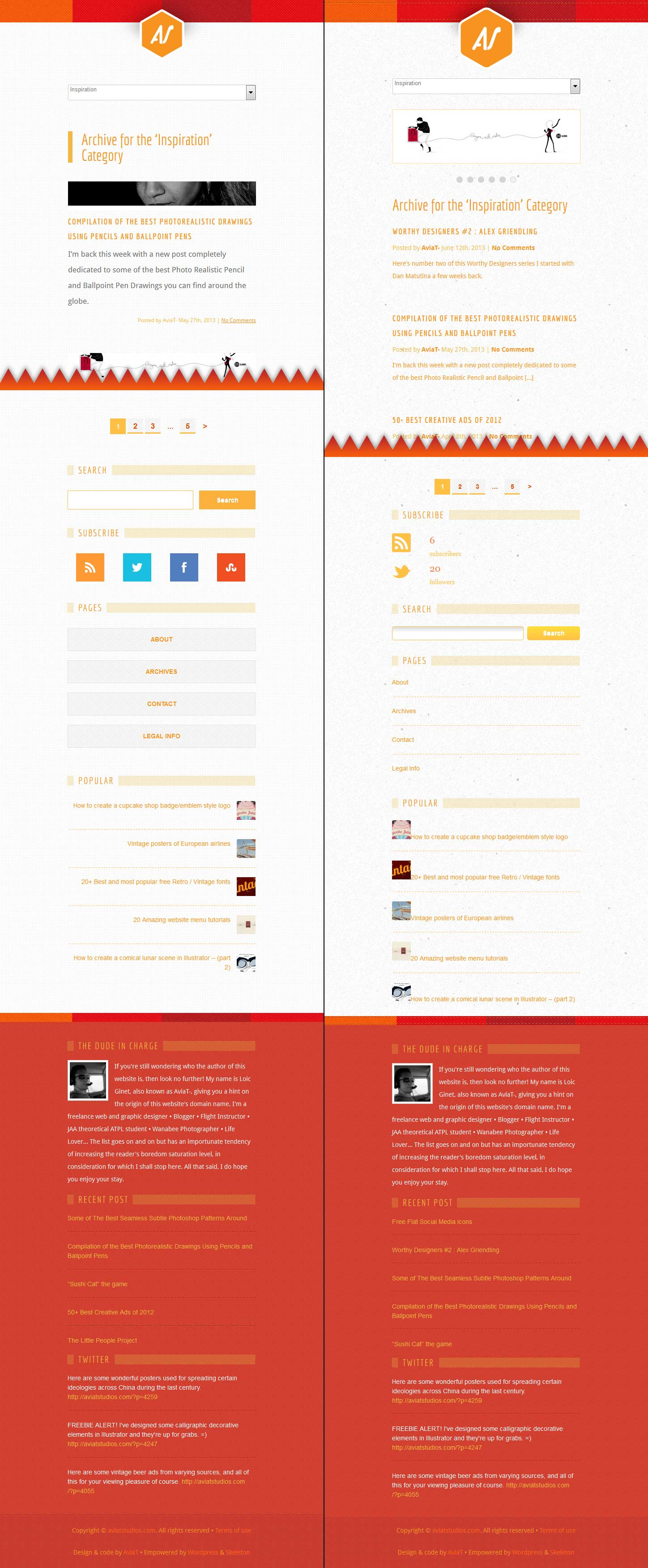 Mobile Size Website Screens