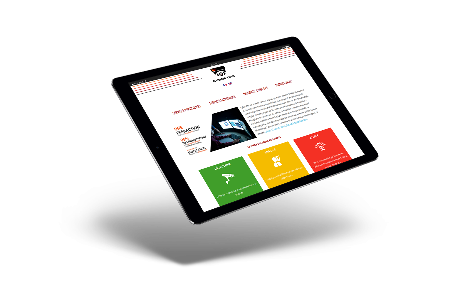 iPad Air 2 Mockup - Cyber-Ops