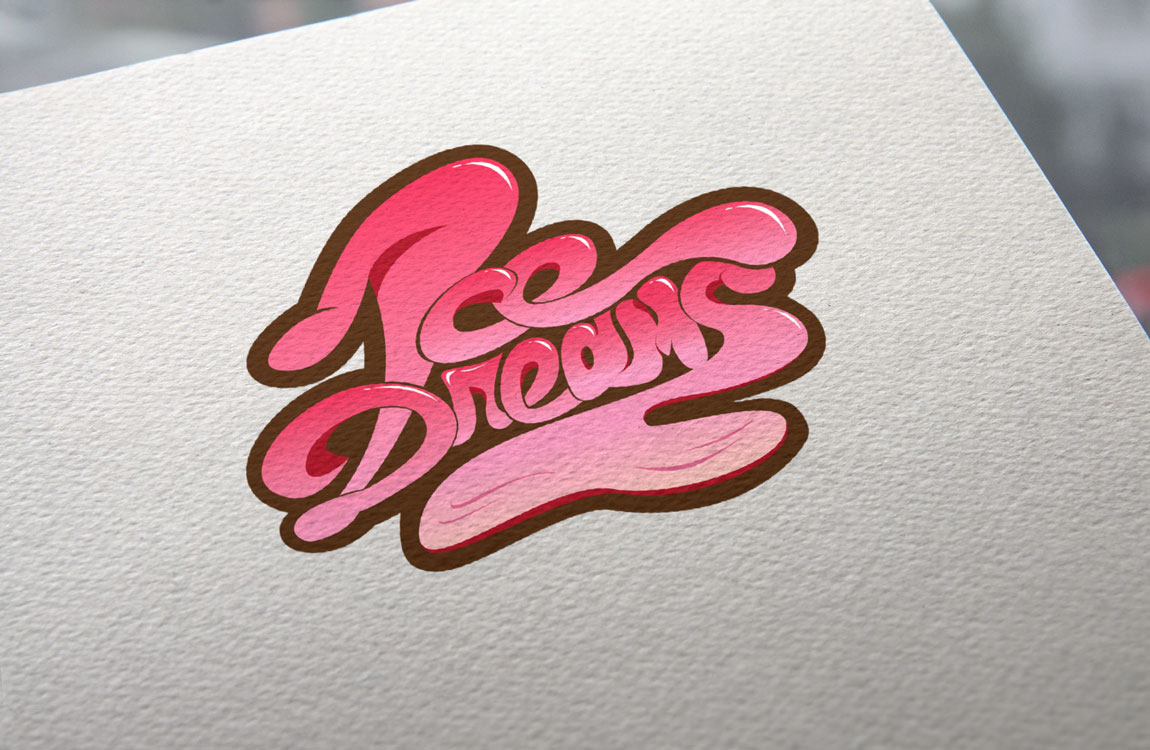 Logo Mockup - Ice Dreams