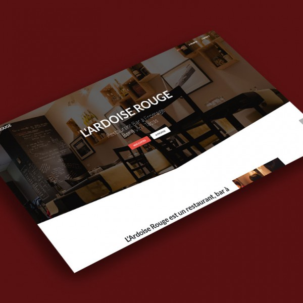 Main Page Mockup - l'Ardoise Rouge