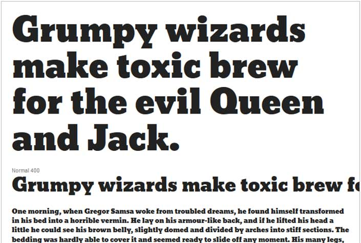 Best Free Google Web Fonts - Bevan