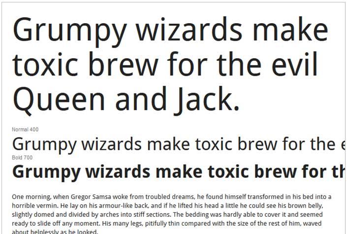Best Free Google Web Fonts - Droid Sans