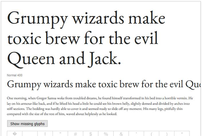 Best Free Google Web Fonts - EB Garamond - aviatstudios com