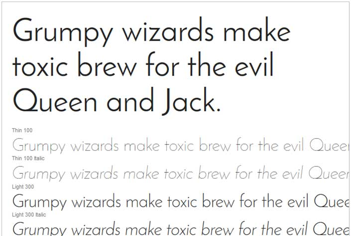 Best Free Google Web Fonts - Josefin Sans