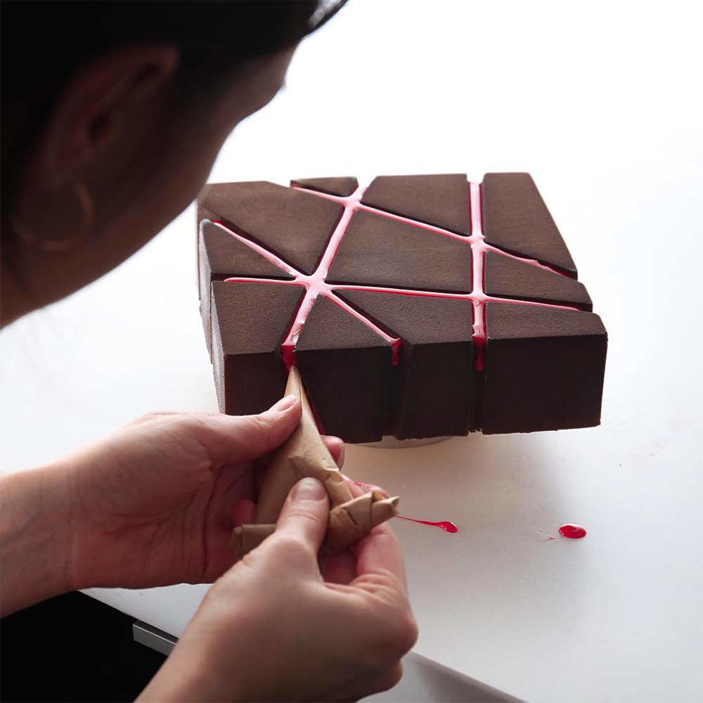 Geometric Cake Designs from Dinara Kasko