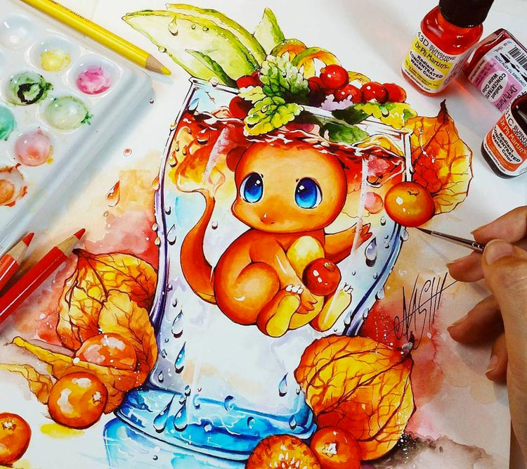 The Cutest Oil Paintings from Naschi