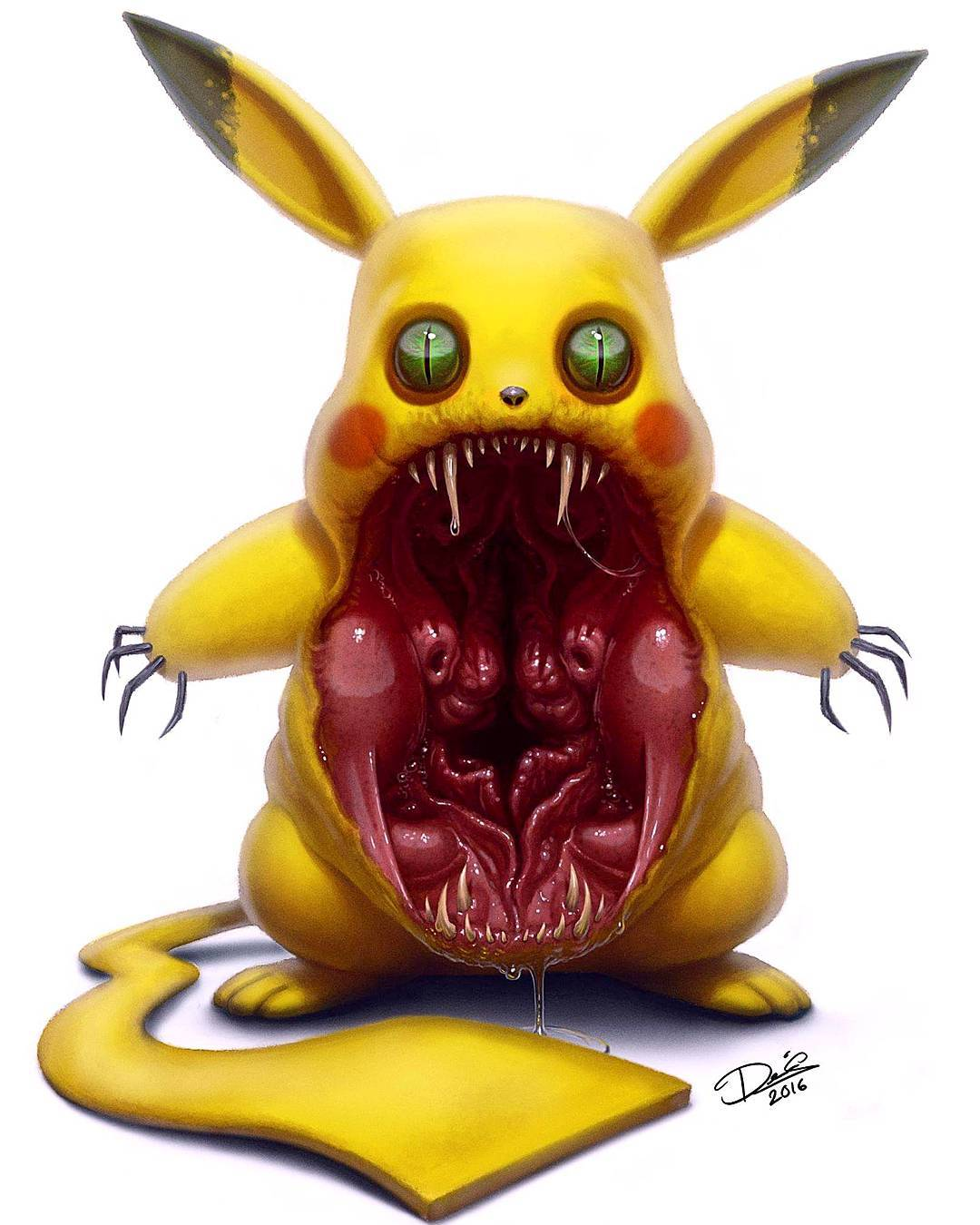 Dennis Carlsson Turns Popular Cartoon Characters Into Terrifying Monsters