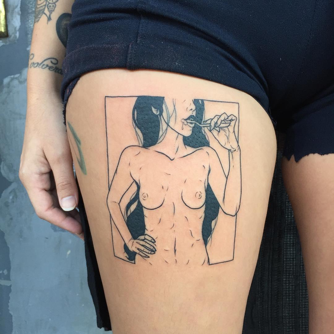 Sad Amish and His Minimalist Erotic Tattoos