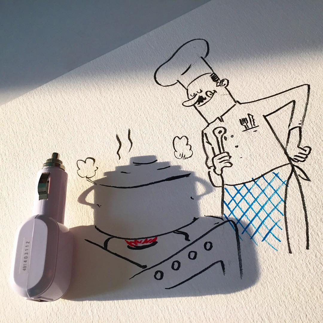 Brilliant Shadow Doodles by Vincent Bal