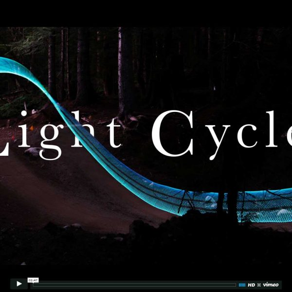 Tron-Like Light Featured Image Trails Using Bicycles and LEDs
