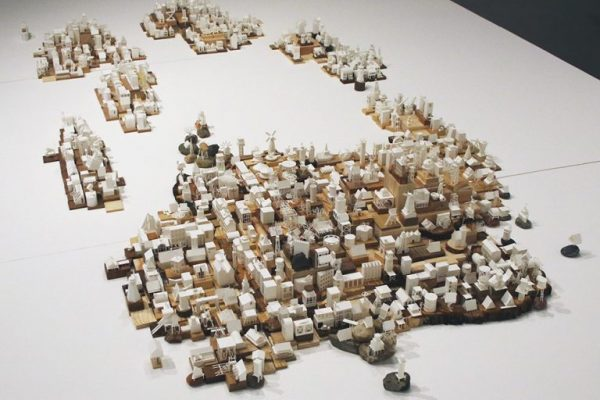 Paper Sculpture Metropolis by Charles Young