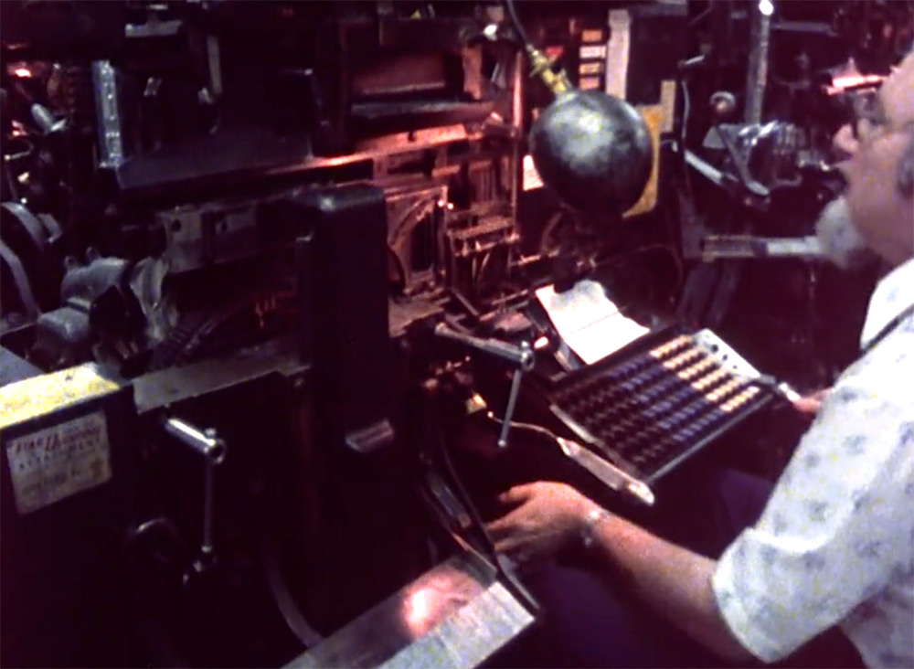 The Last Day of Hot Metal Typesetting at the New York Times