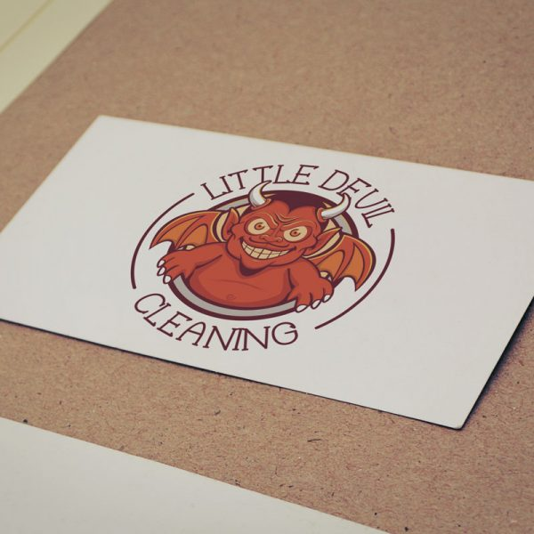 Logo Mockup - Little Devil Cleaning