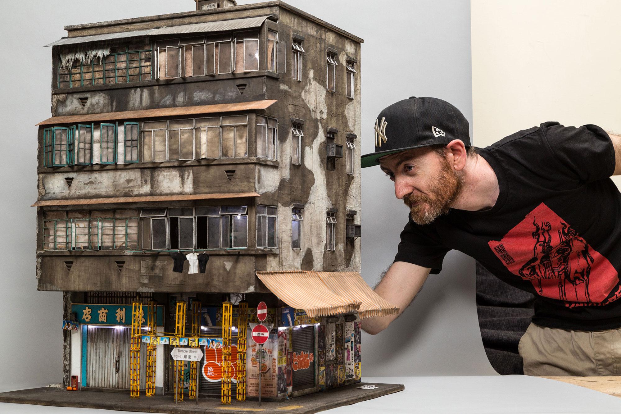 Miniature Contemporary Urban Buildings by Joshua Smith